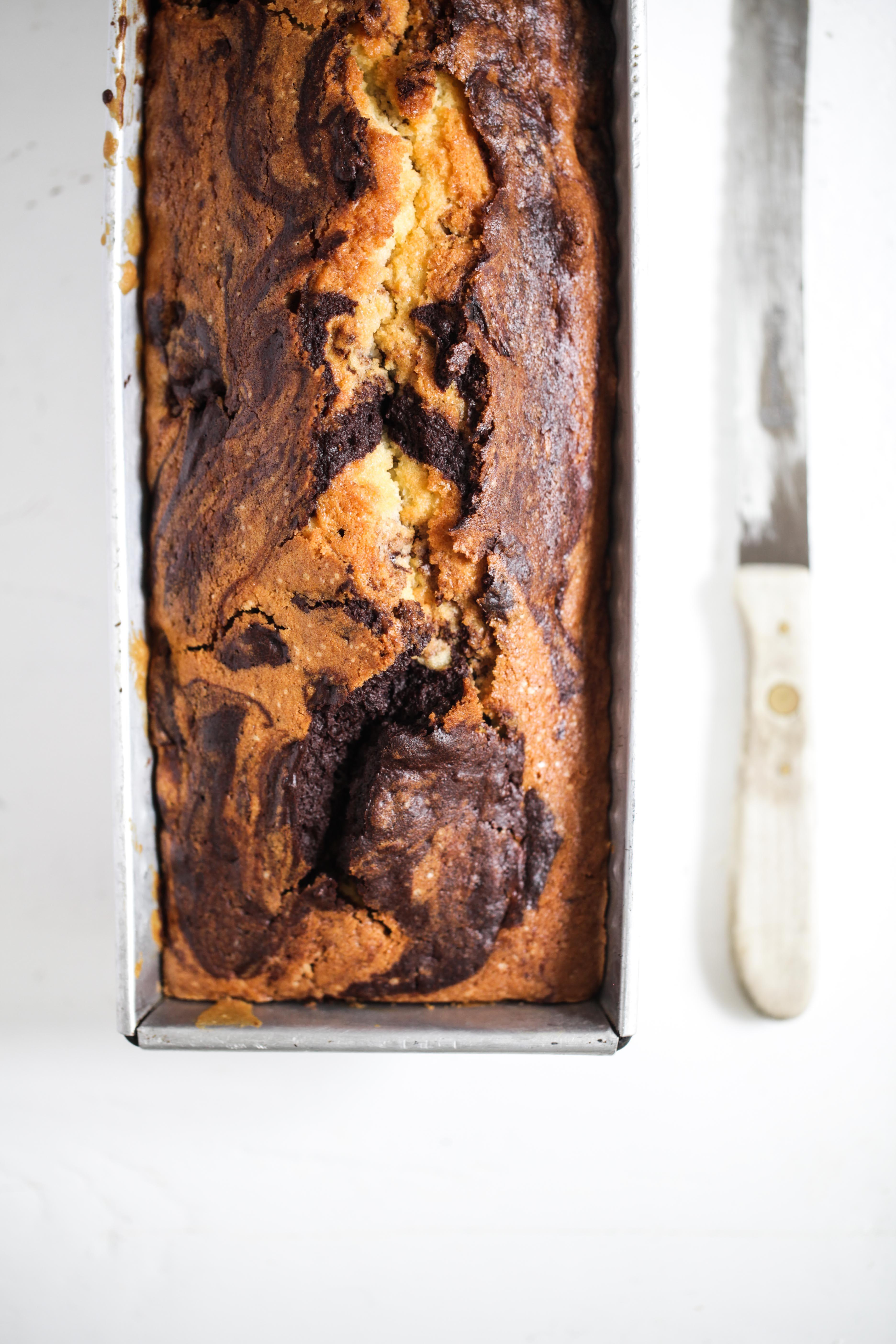 Zuckerzimtundliebe Rezept Rote Grütze Marmorkuchen Kirschgrütze Backrezept Kastenkuchen Kastenform Sandkuchen saftiges Kuchenrezept