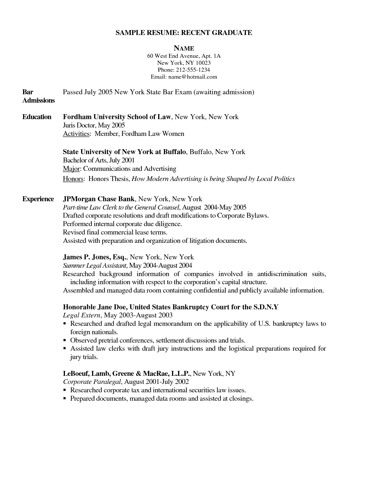 New Grad Nurse Resume Registered Cover Letter Sample Philippines  Resume Recent Graduate