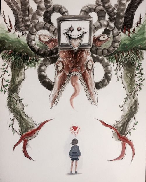 Omega Flowey And Frisk Undertale Fan Art By Sociopathinblack On