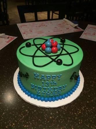Scientist Birthday Cake