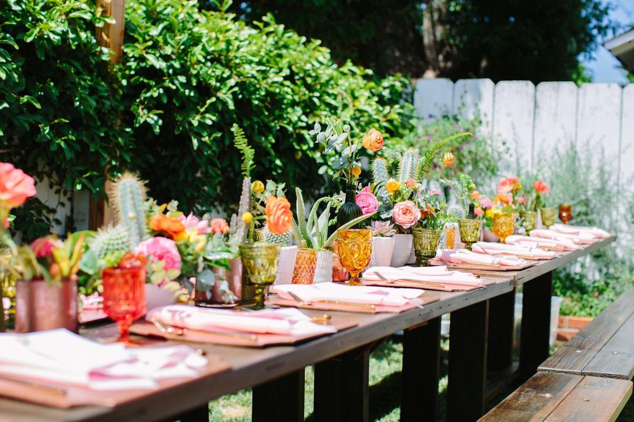 stylish bohemian backyard wedding candice joe orange weddings
