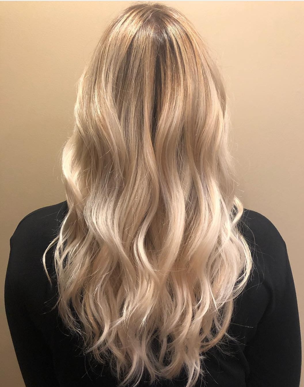 Champagne Blonde Balayage By Elizabeth Soft Cream Blonde With