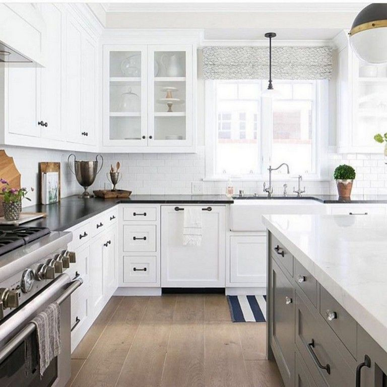 10+ Dark grey countertops with white cabinets ideas