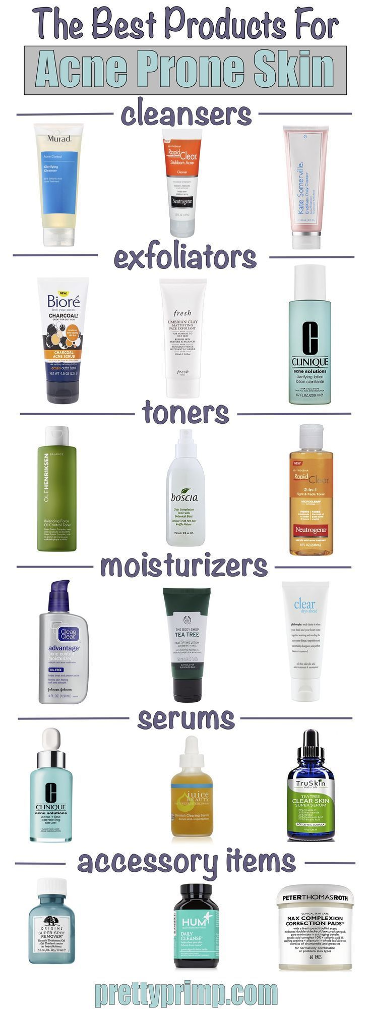 The Best Skincare Products And Routine For Acne Prone Skin Get Rid Of Your Acne With These Pr Best Acne Products Skin Cleanser Products Best Skincare Products