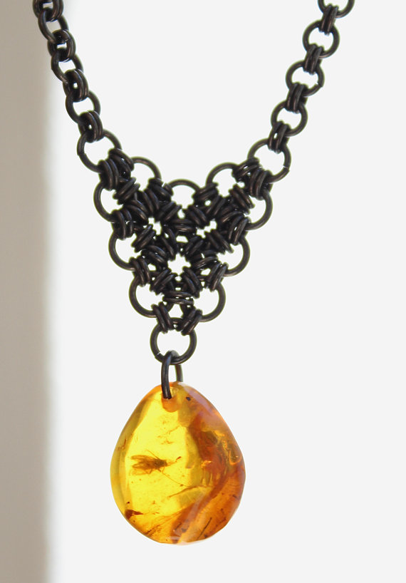 Baltic amber pendant necklace with insect vintage necklace amber baltic amber pendant necklace with insect vintage necklace amber necklace copper necklace genuine amber old amber handmade necklace aloadofball Gallery