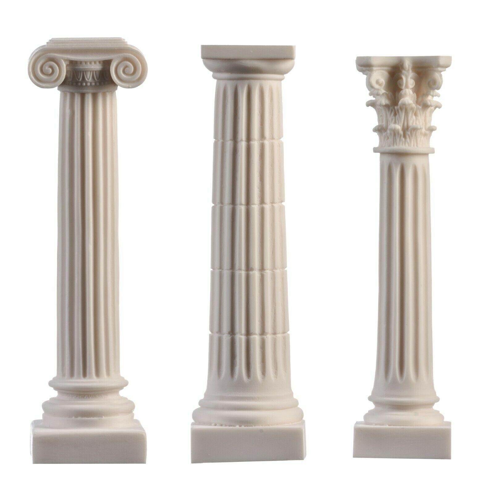 Greek Column Set Corinthian Ionic Doric Order Architecture Alabaster Ebay Greek Columns Corinthian Order Doric