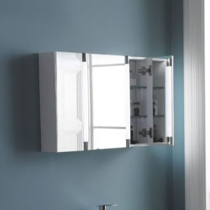 800mm Wide Mirrored Bathroom Cabinet