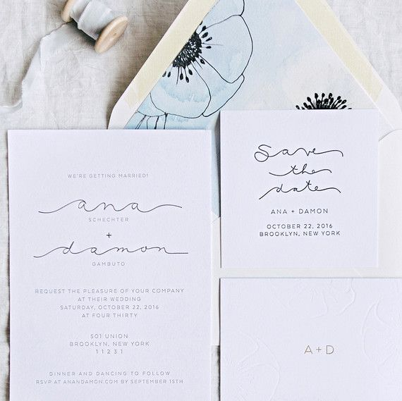 ana and damon wedding stationery suite Mar Pinterest