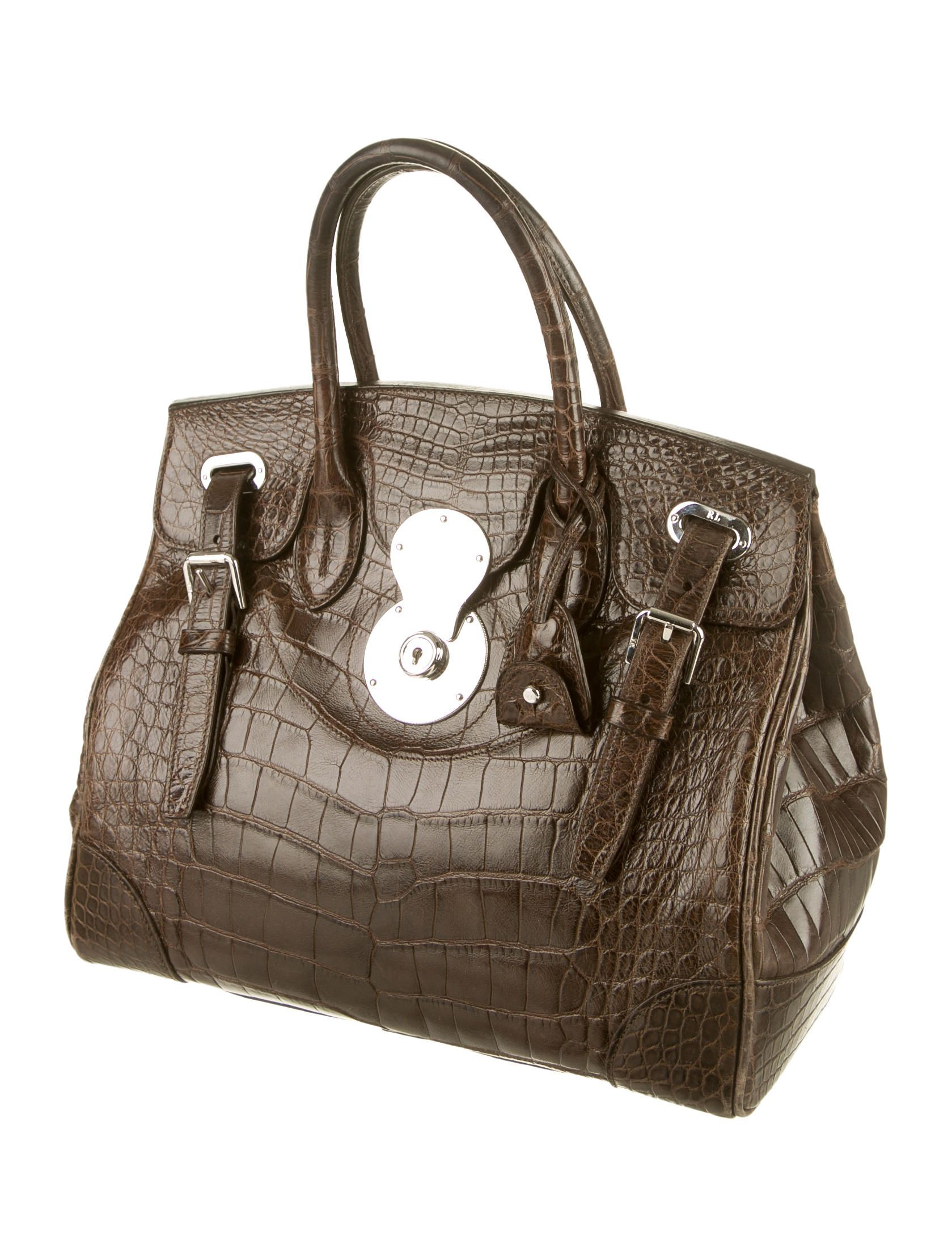 4dfab82e989e ... coupon ralph lauren alligator ricky bag handbags wyg20192 the realreal  a4389 78d41