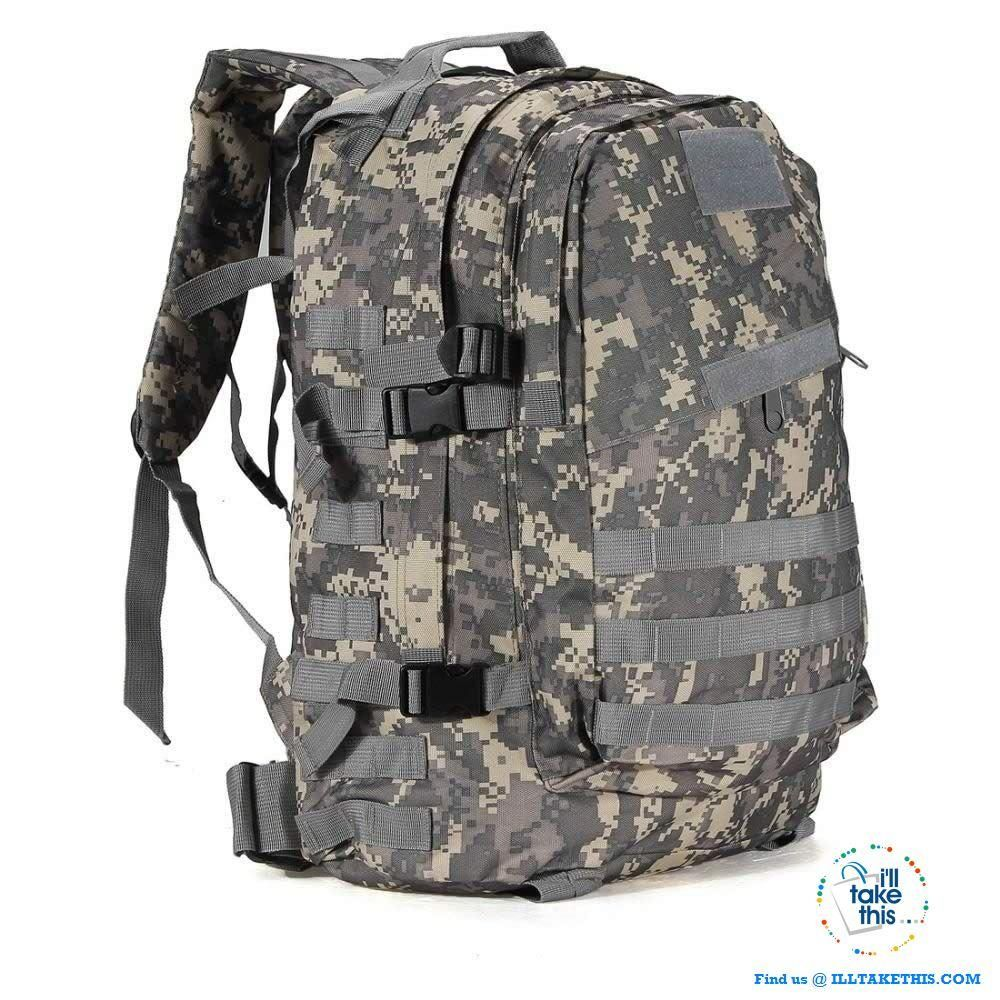 40L//55L Outdoor Military Tactical Backpack Rucksack Camping Hiking Trekking NEW