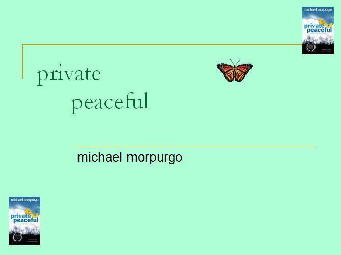 Private Peaceful The Book Free Essays - studymode.com