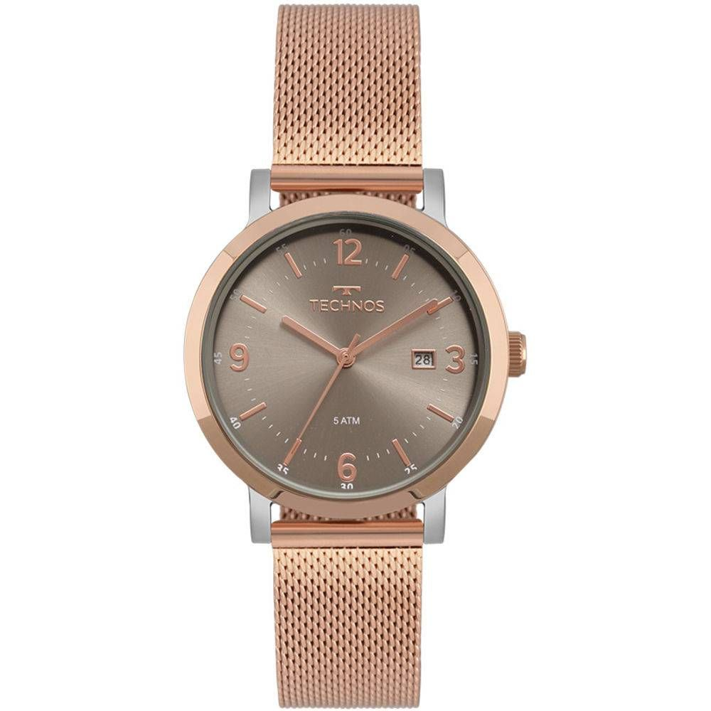 6cff3824f7d Relógio Technos Feminino Elegance Dress 2115MPF 4C - Relógio Technos  feminino em banho rosé.