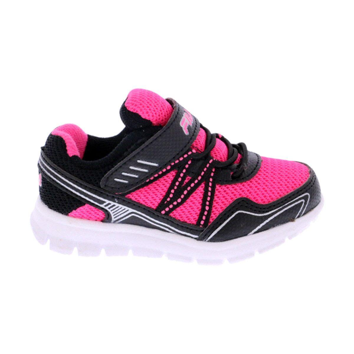 ac7edebb88bd Fila - Girl s Fiction Sneakers (Toddler)- Pink Black