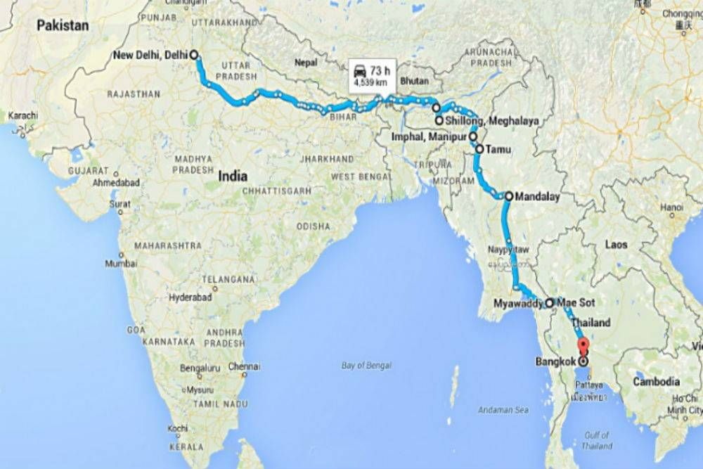 India to Thailand on wheels Travel