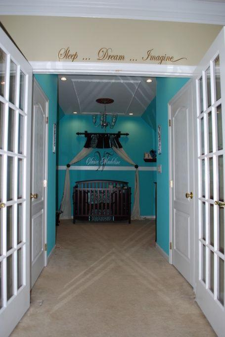 Tiffany Nursery Like The Makeshift Canopy Bed