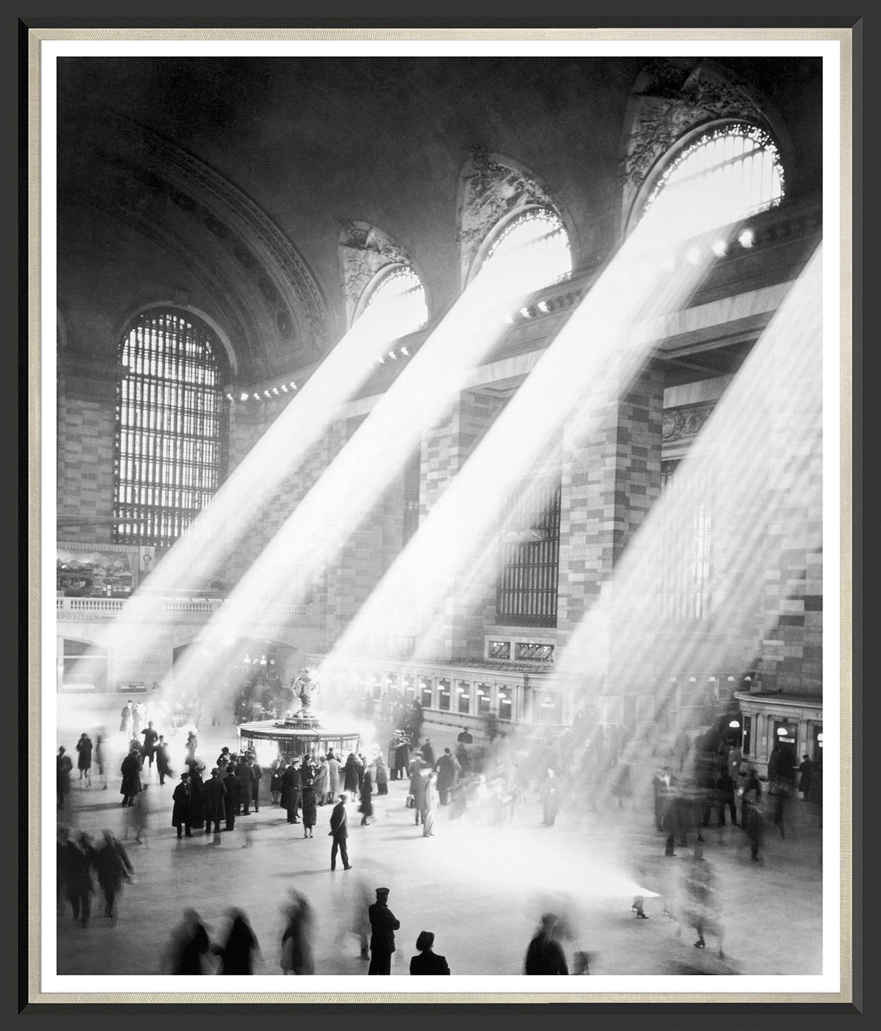 Sunbeams In Grand Central Station Framed Wall Art