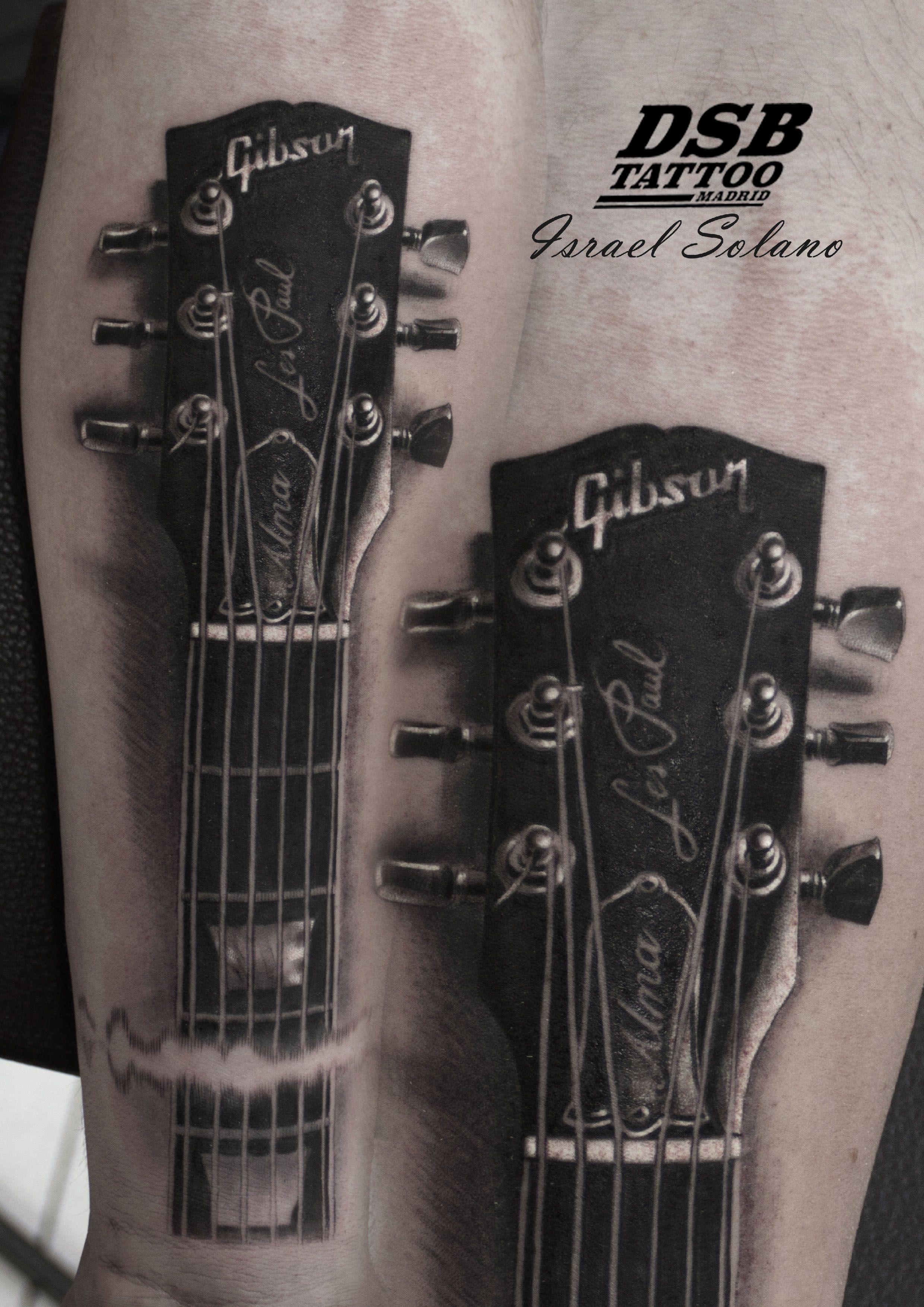 27b7e459f4de5 #guitar #guitarra #mastil #gibson #lespaul #realismo #realism #ink  #tattooed #tattoo #tatuaje #madrid