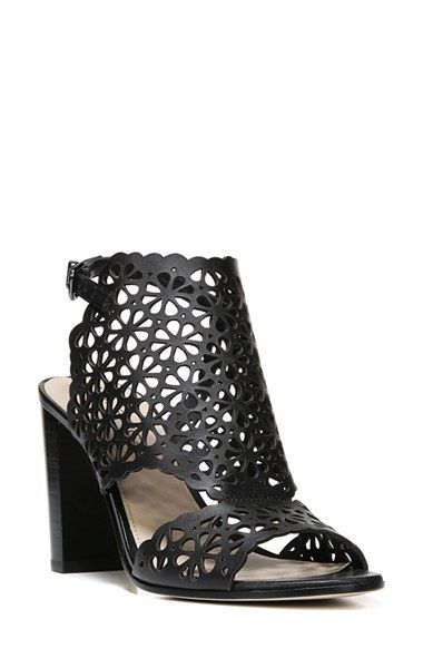 684375776 Free shipping and returns on Via Spiga Garnet Perforated Ankle Strap Sandal  (Women) at Nordstrom.com. Laser-cut floral perforations pattern a breezy  leather ...