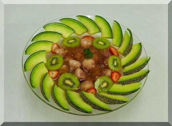 how to cut fruits in designs