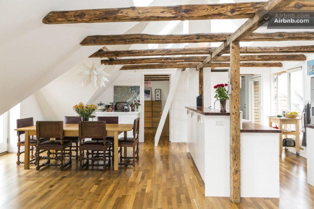 Penthouse Mit 4 5 Zimmern Und 5 Balkonen In Kopenhagen Chambre Loft Idee Deco Appartement Logement