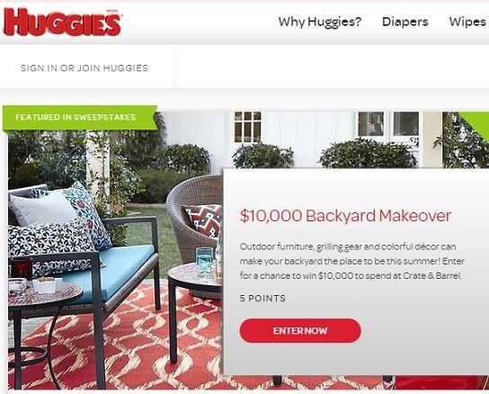 Huggies Backyard Makeover Sweepstakes | Backyard makeover ...
