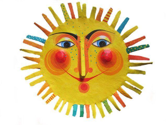 Weiteres - Sonne , Durchmesser ca.46 cm, Pappmache - ein Designerstück von villaazula bei DaWanda