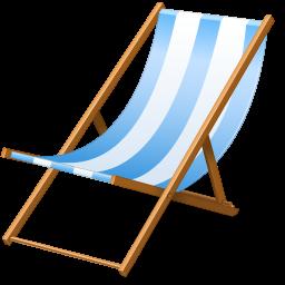 Beach Chair Icon Vacation Iconset Visualpharm Beach Chairs Beach Signs