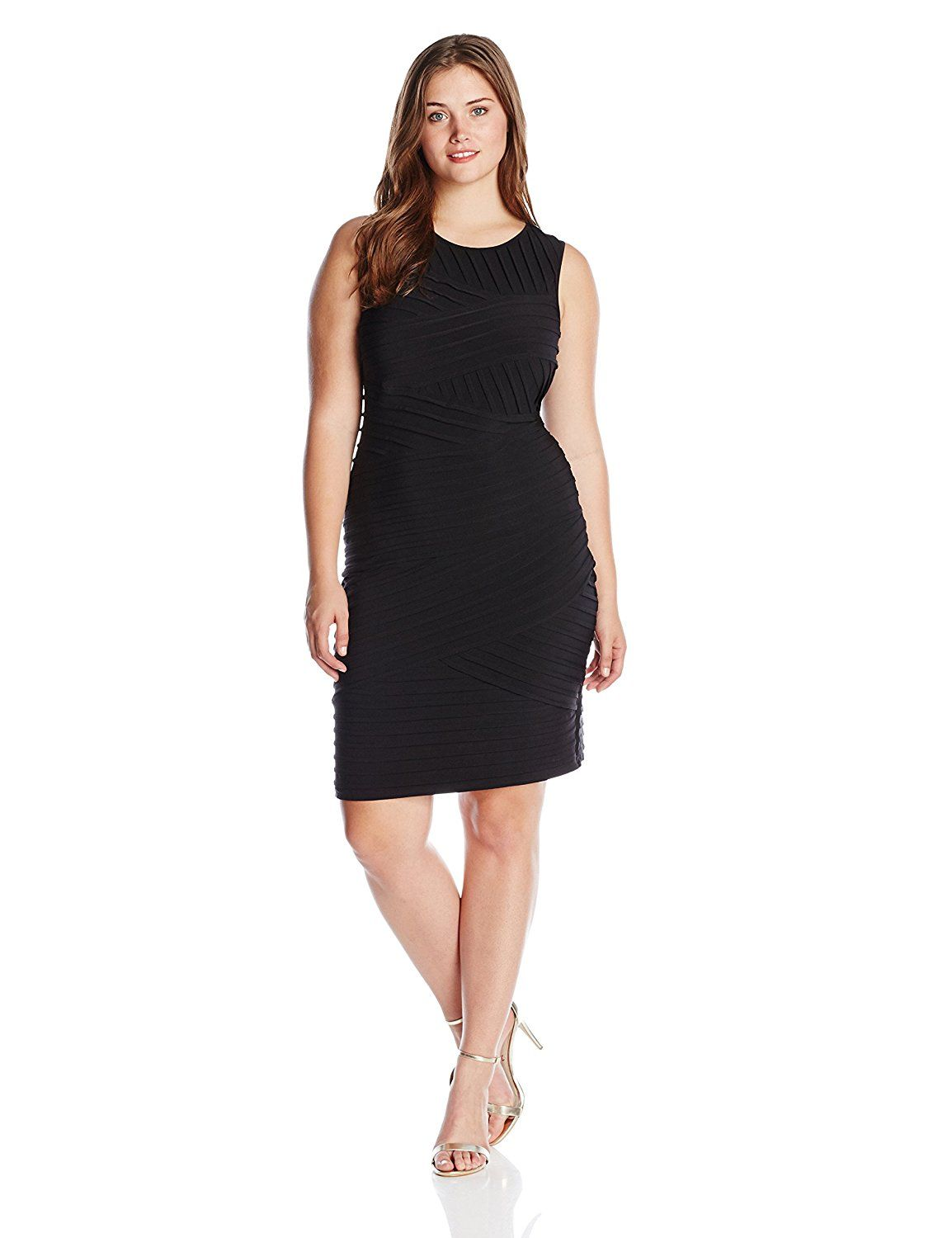Calvin Klein Women s Plus Size Sleeveless Sheath Dress Trust me