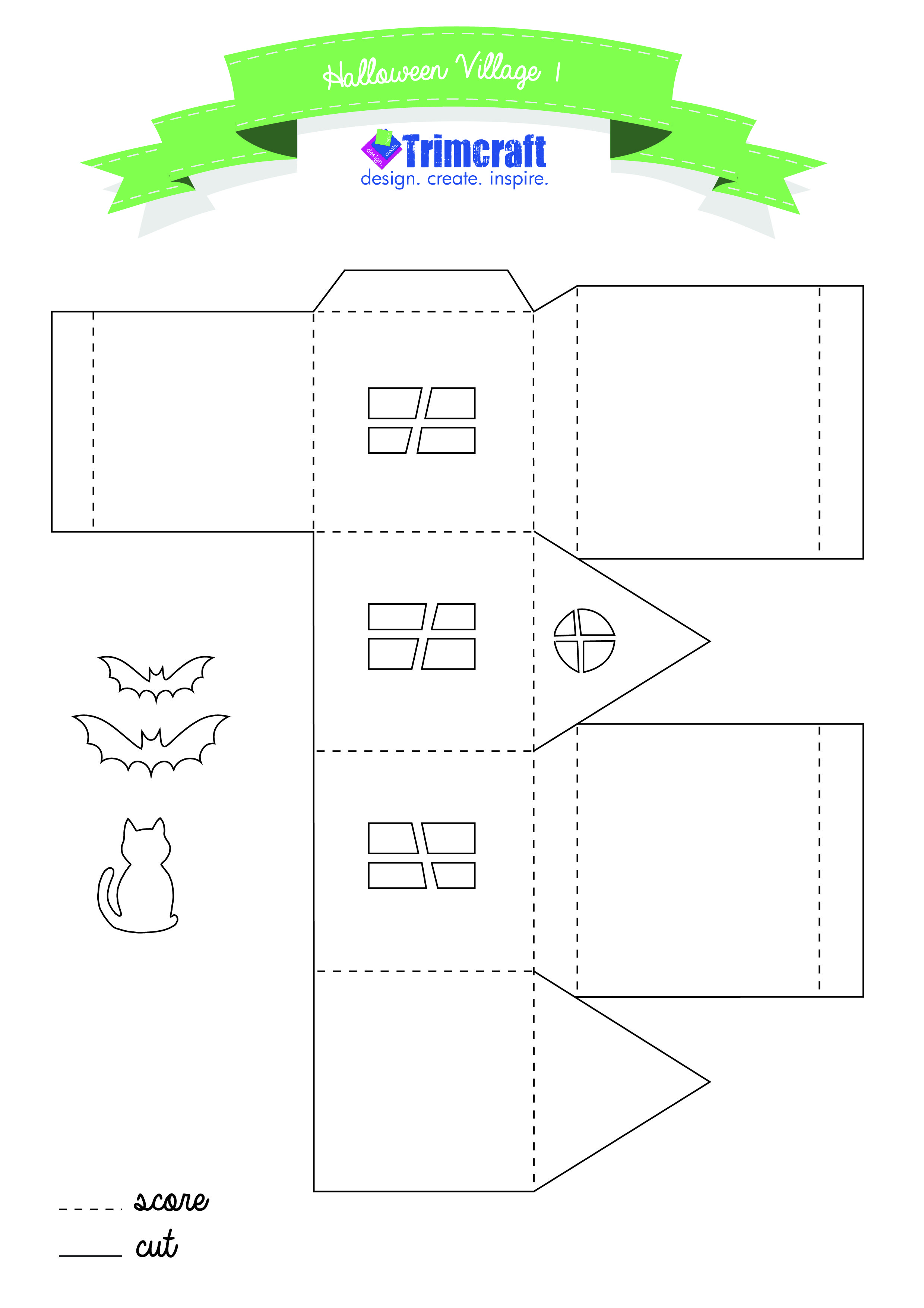 3d Haunted Halloween Houses Tutorial And Free Printable