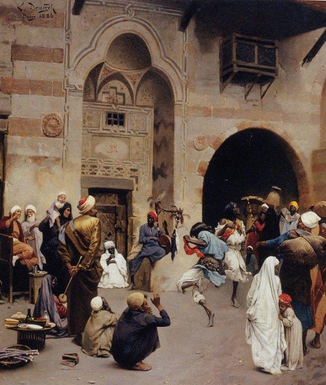 DEUTSCH Ludwig Austrian (Vienna 1855 - 1935 Paris 1935) ~  The Nubian Dance 1886