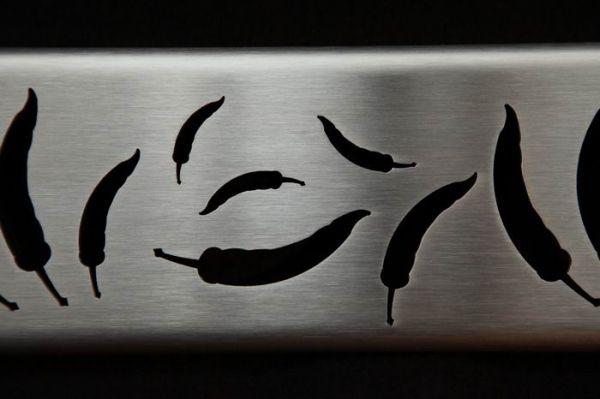 peperoni in edelstahl heizkrperabdeckung fr die kche schne abdeckung fr einen heizkrper aus edelstahl peperoni - Heizkorper Fur Kuche
