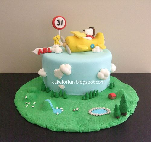 Love love love Design Beautiful Pinterest Snoopy cake