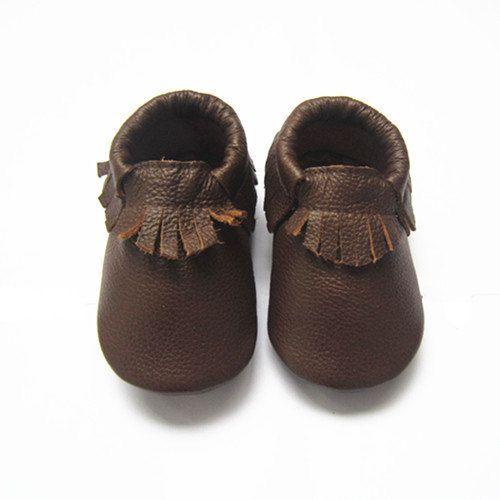 eddc7a816e4c2 Chocolate Brown Moccs, Baby Moccasins, Chocolate, Brown, Moccs, Baby ...
