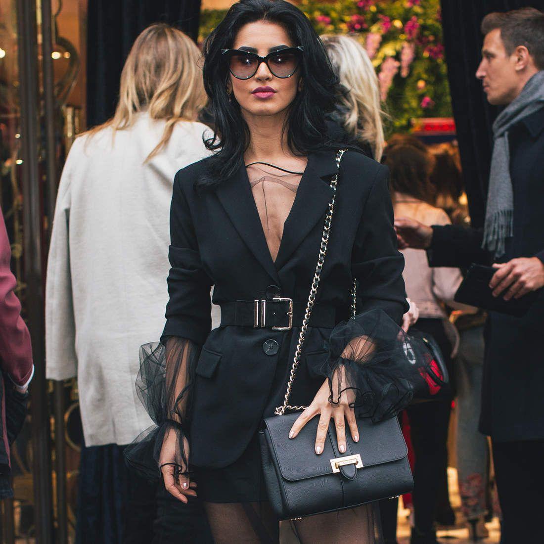 Large Lottie Bag in Black Pebble | Fashion, Fashion outfits