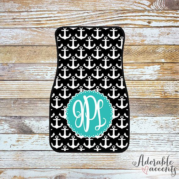 Monogrammed Car Mats by ShopAdorableAccents on Etsy