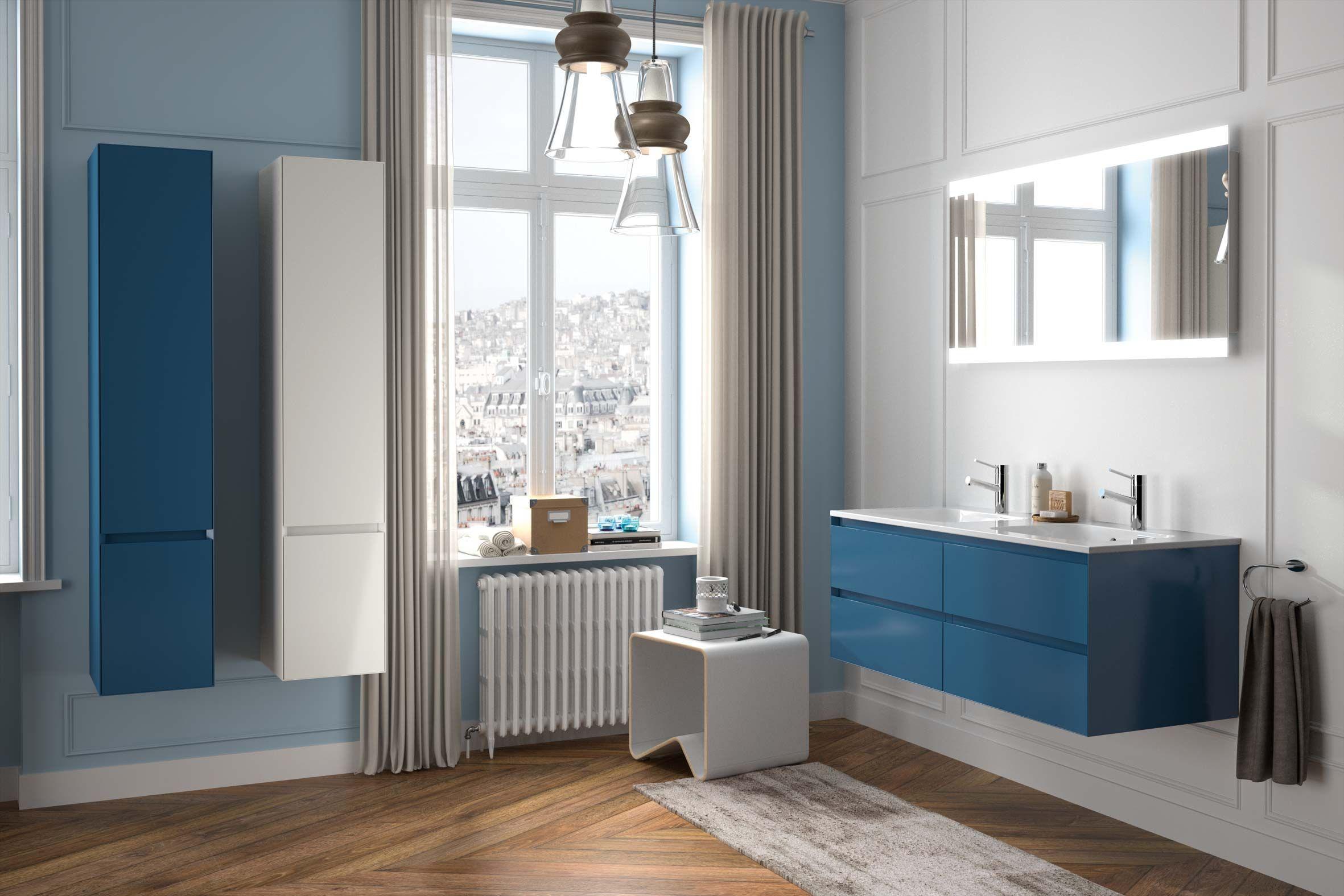 Meubles de salle de bain Cedam gamme Elite ambiance appartement haussmanien