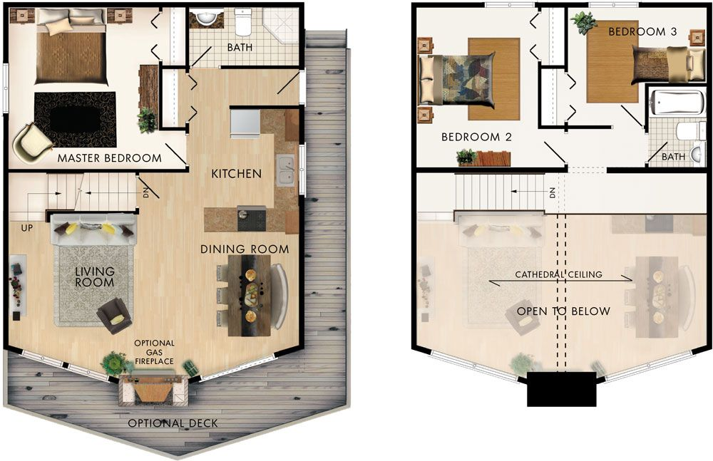Trillium Floor Plan Cabin House Plans House Plans Tiny House Plans