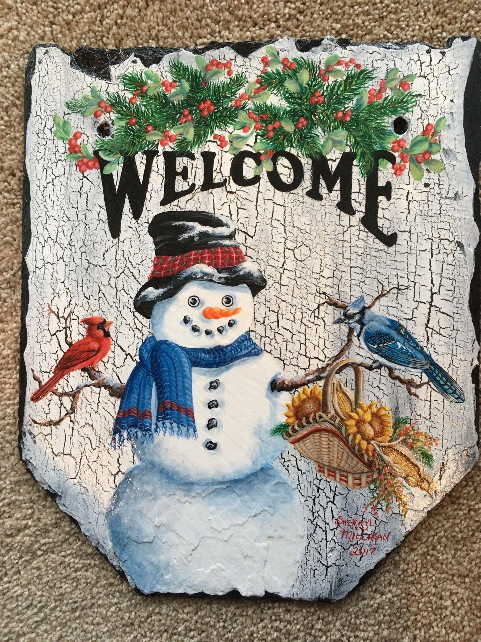 sherrylpaintz a snowman bird feeder Chrismast