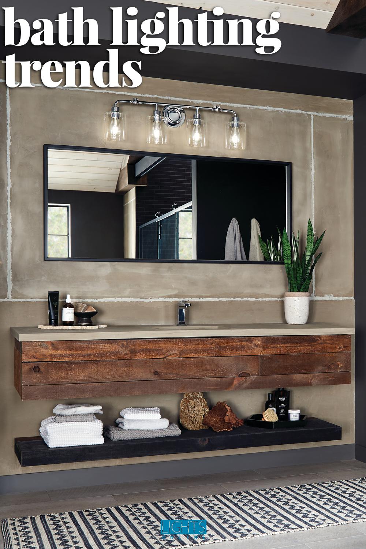 Top Trends In Baths For 2020 Design Inspirations Lightsonline Blog Bathroom Lighting Design Modern Bathroom Tile Master Bathroom Design