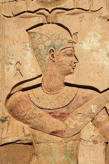 Kom Ombo Detail of Temple of Sobek and Horus