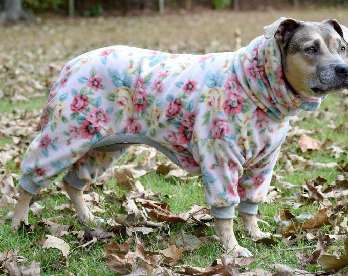 Custom Large Dog Pajamas Pjs Onesie Longjohns Pitbull