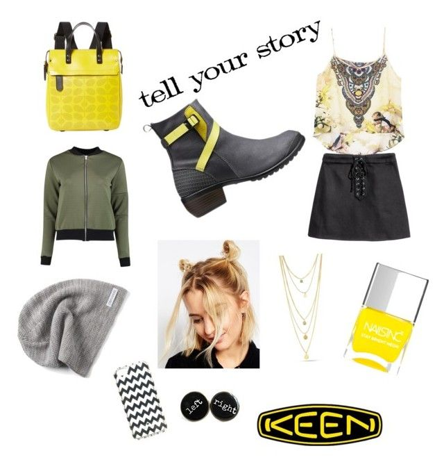 """""""Living keen style rocks"""" by debodoherty06 ❤ liked on Polyvore featuring Keen Footwear, Boohoo, ASOS, Nails Inc., Orla Kiely, Kate Spade, Converse and Tim Holtz"""