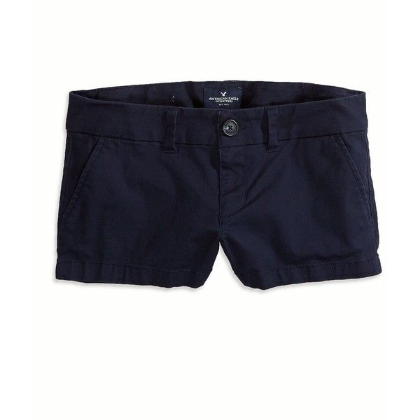 American Eagle Factory Twill Shorts ($25) ❤ liked on Polyvore