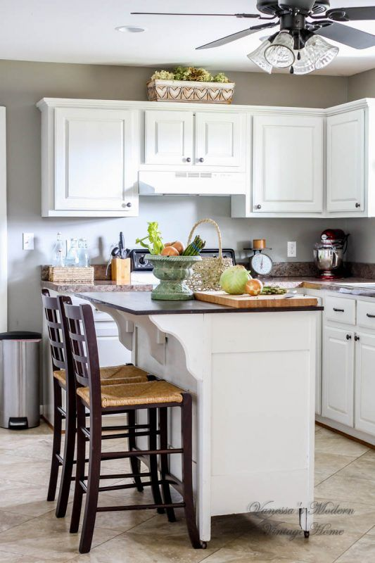 paint kitchen cabinets in one weekend by vanessa s modern vintage rh pinterest com