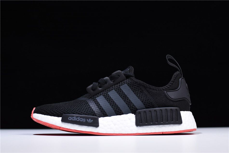 watch e3259 04c92 Adidas NMD R1 Core Black Carbon-Trace Scarlet