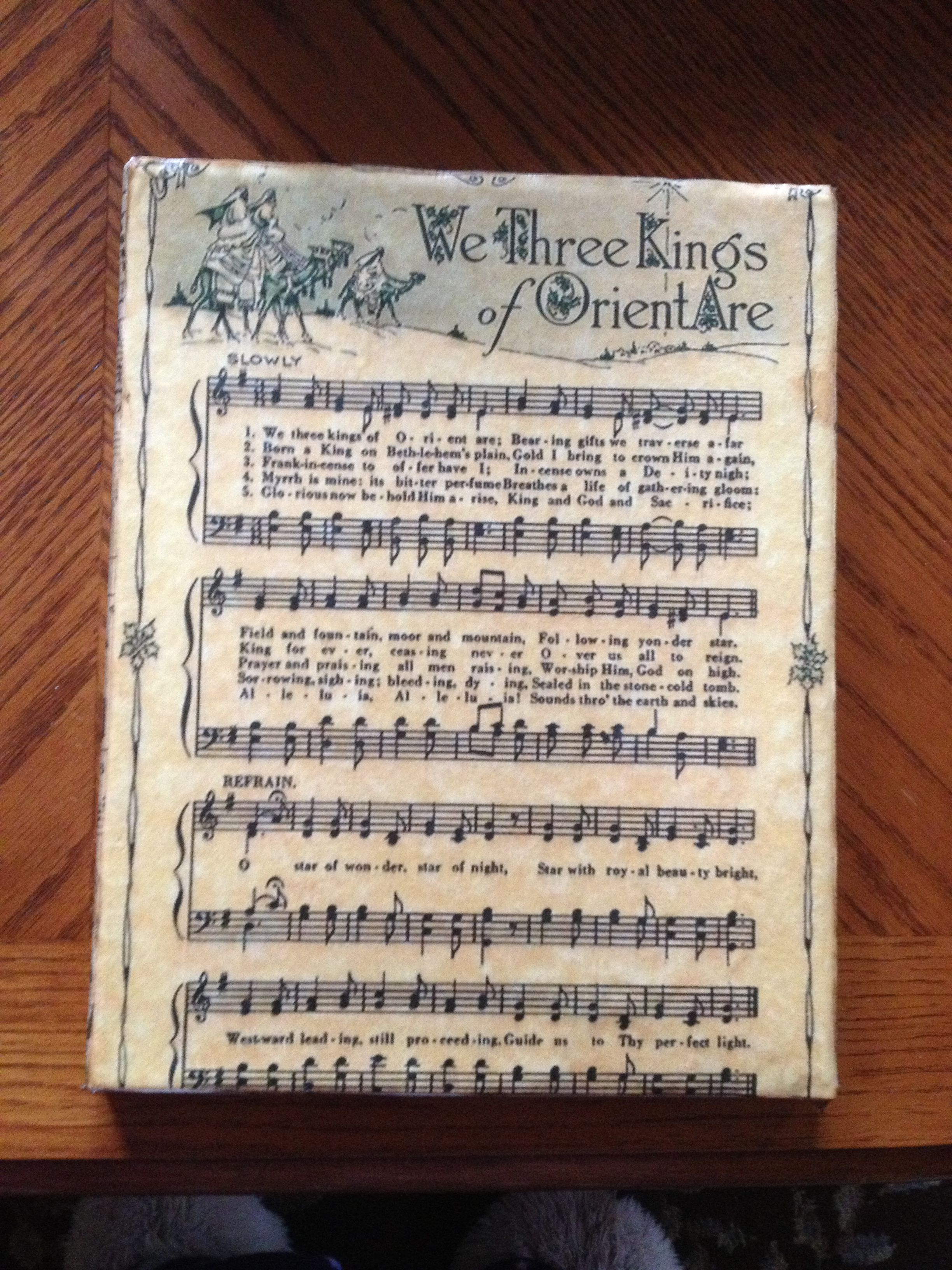 i printed a vintage christmas sheet music on parchment resume paper