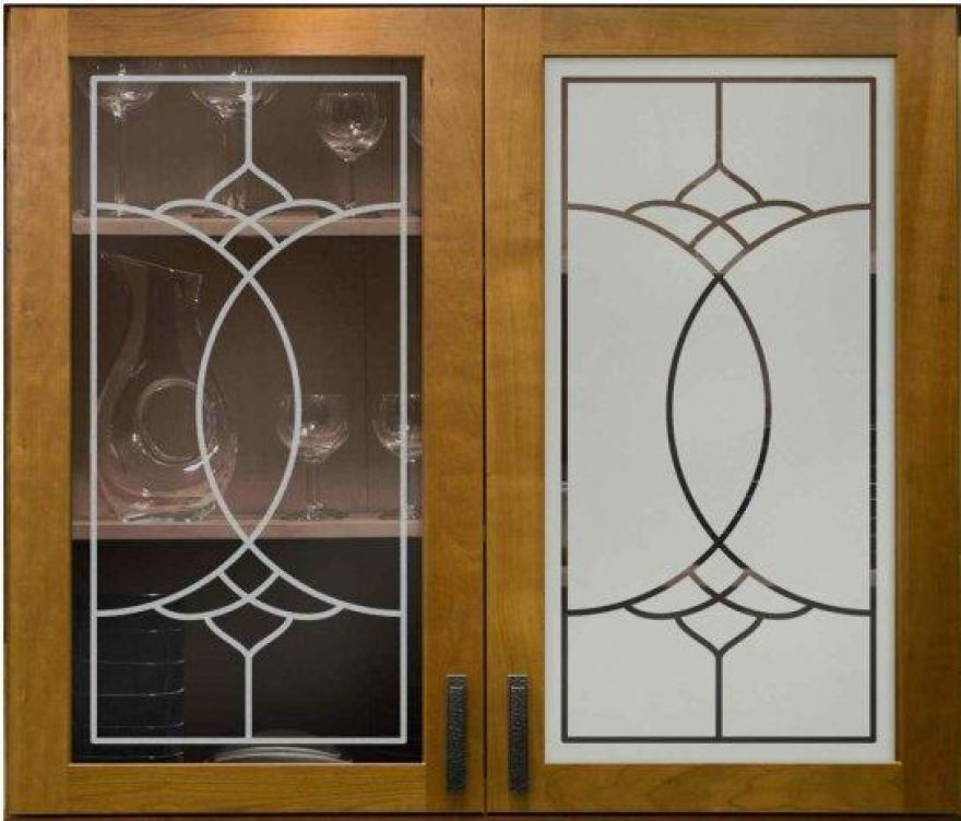 Decorations Frosted Glass For Cabinet Doors Etched For Modern