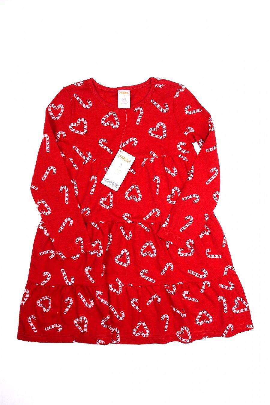 Girls gymboree short dress size xs christmas candycane kids