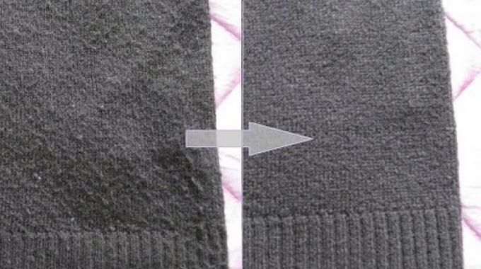 comment enlever les bouloches sur un pull en laine le truc incroyable entretien et astuces. Black Bedroom Furniture Sets. Home Design Ideas