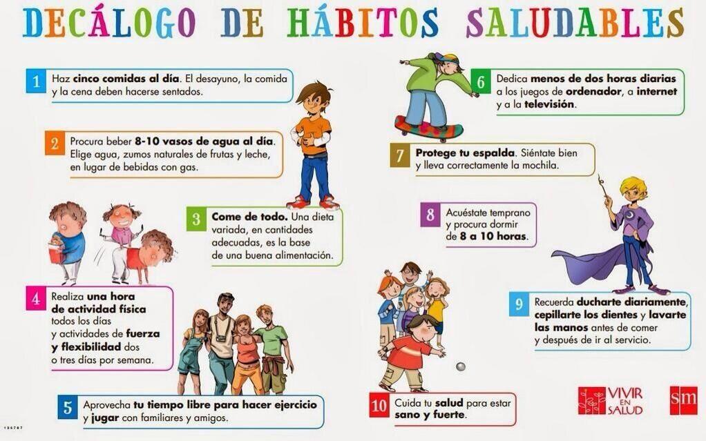 10 habitos de educacion fisica